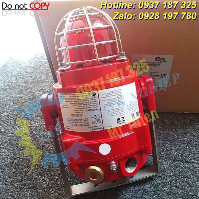 BEXBG05DPDC024CB2A1R/R , Đèn xenon xanh lá báo động cháy nổ , E2S Vietnam , Đại diện phân phối E2S chính hãng độc quyền tại Việt Nam