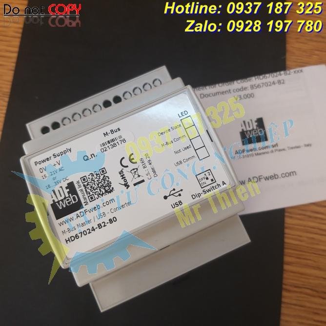 HD67024-B2-80 , Thiết bị chuyển đổi 80 kết nối Mbus sang cổng USB , ADFweb Vietnam , Đại lý phân phối ADFweb tại Việt Nam,
