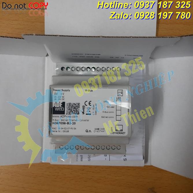 HD67056-B2-20 , Bộ chuyển đổi 20 kết nối Mbus sang BACnet IP , ADFweb Vietnam , Đại lý phân phối ADFweb tại Việt Nam,
