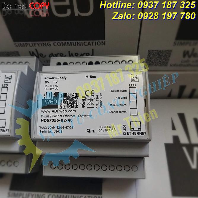 HD67056-B2-40 , Bộ chuyển đổi 40 kết nối Mbus sang BACnet IP , ADFweb Vietnam , Đại lý phân phối ADFweb tại Việt Nam