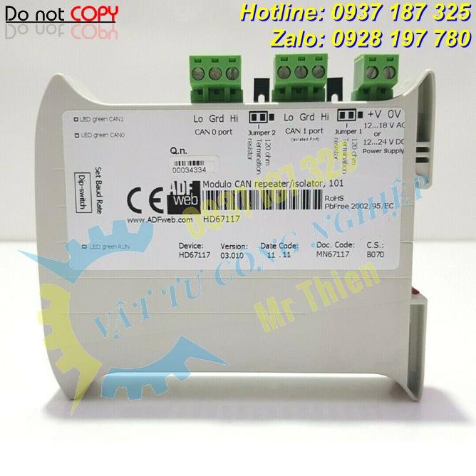 HD67117 , Bộ lặp tín hiệu CANopen , ADFweb Vietnam , Đại lý phân phối ADFweb tại Việt Nam, hàng nhập khẩu chính hãng, giá cạnh tranh