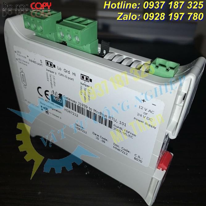 HD67212 , ADFweb Vietnam , Bộ chuyển đổi giao thức J1939 sang Modbus slave , Đại diện phân phối ADFweb tại Việt Nam