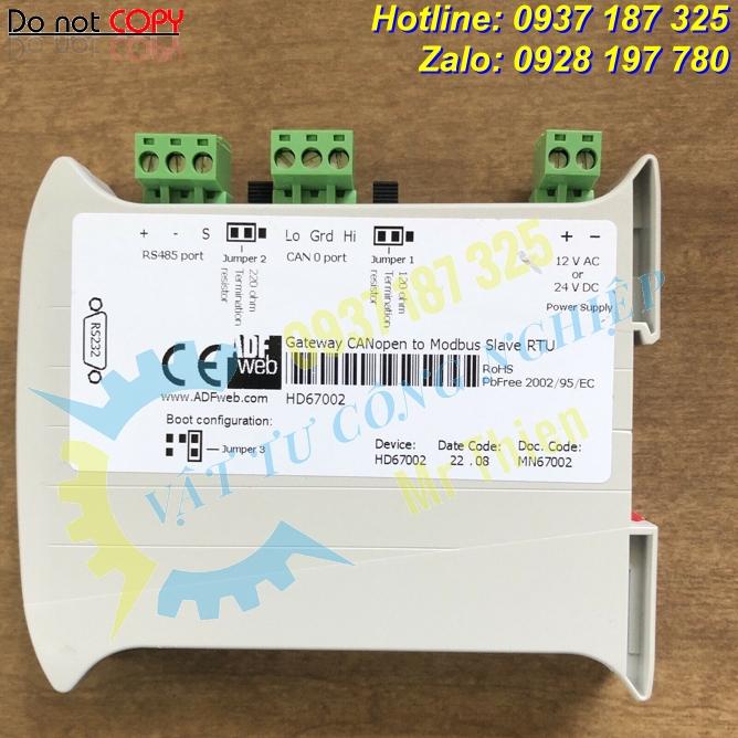 HD67502-A1 , ADFweb Vietnam , Bộ chuyển đổi CANopen sang Modbus , Đại lý phân phối ADFweb chính hãng tại Việt Nam