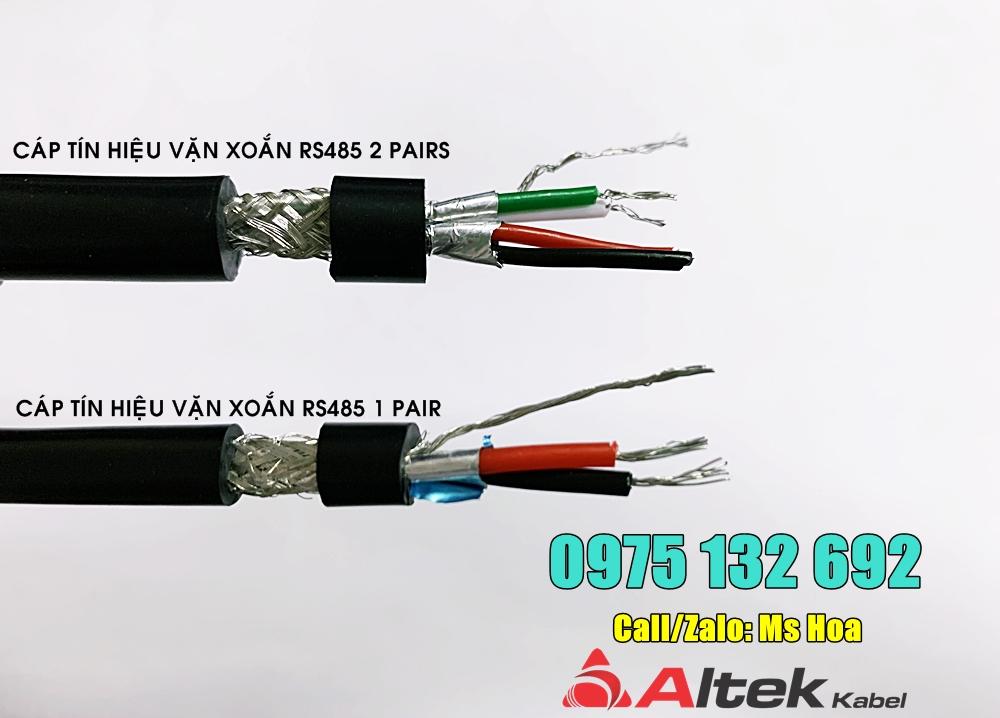 Cáp vặn xoắn RS485 1 pair 18AWG, 22AWG, 24AWG chống nhiễu Altek Kabel