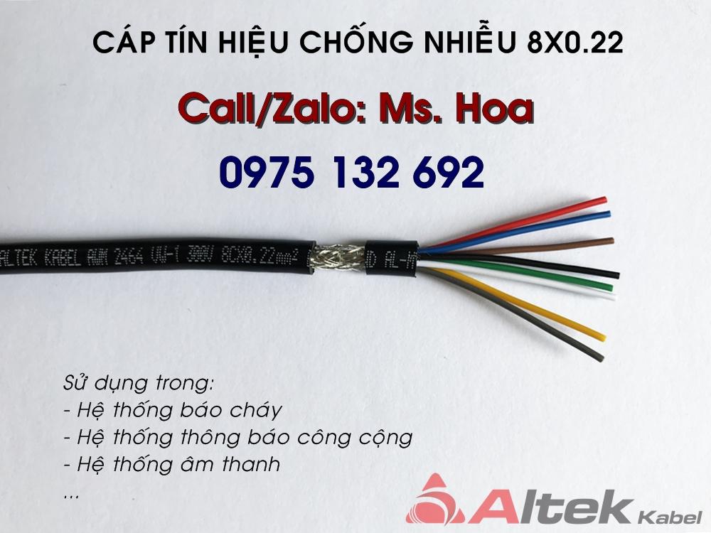Dây tín hiệu chống nhiễu 8x0.22 (24AWG), Altek Kabel audio cable