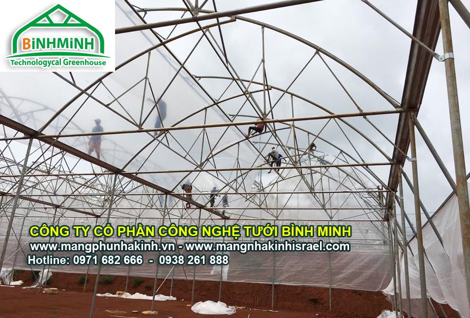 Giá Màng nhà kính Israel politiv hiện nay, nhà màng trồng dưa lưới,trồng dưa lưới trong nhà kính