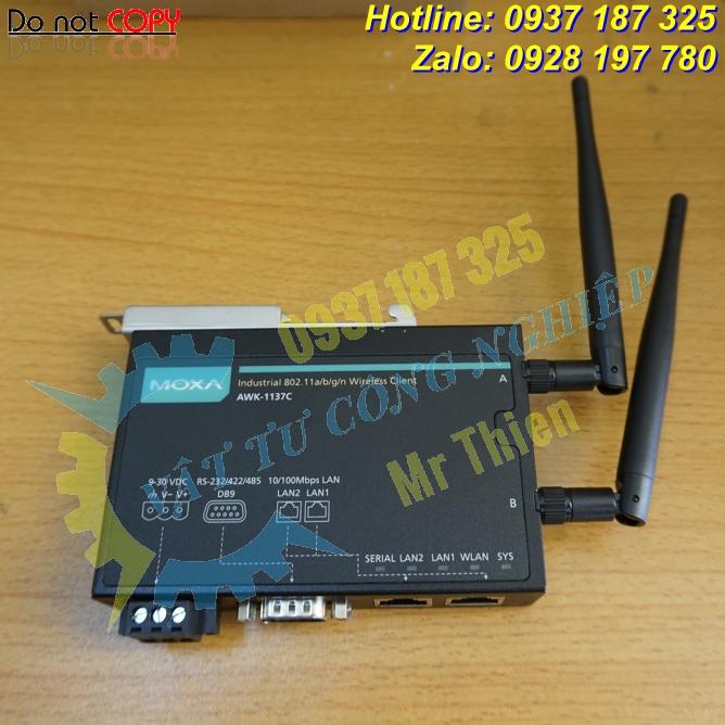 AWK-1137C , Moxa Vietnam , Bộ thu phát tín hiệu không dây , Đại lý phân phối Moxa chính hãng tại Việt Nam