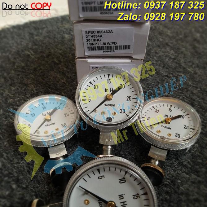 V534K , 050462A , Ametek Vietnam , Đồng hồ đo áp suất chân không , Nhà cung cấp Ametek chính hãng tại Việt Nam