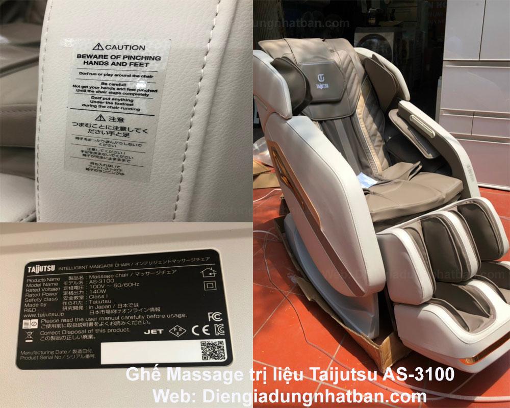 Chuyên Ghế Massage trị liệu Taijutsu AS-3100 Xuất Xứ Nhật Giá Tốt Nhất Hải Phòng