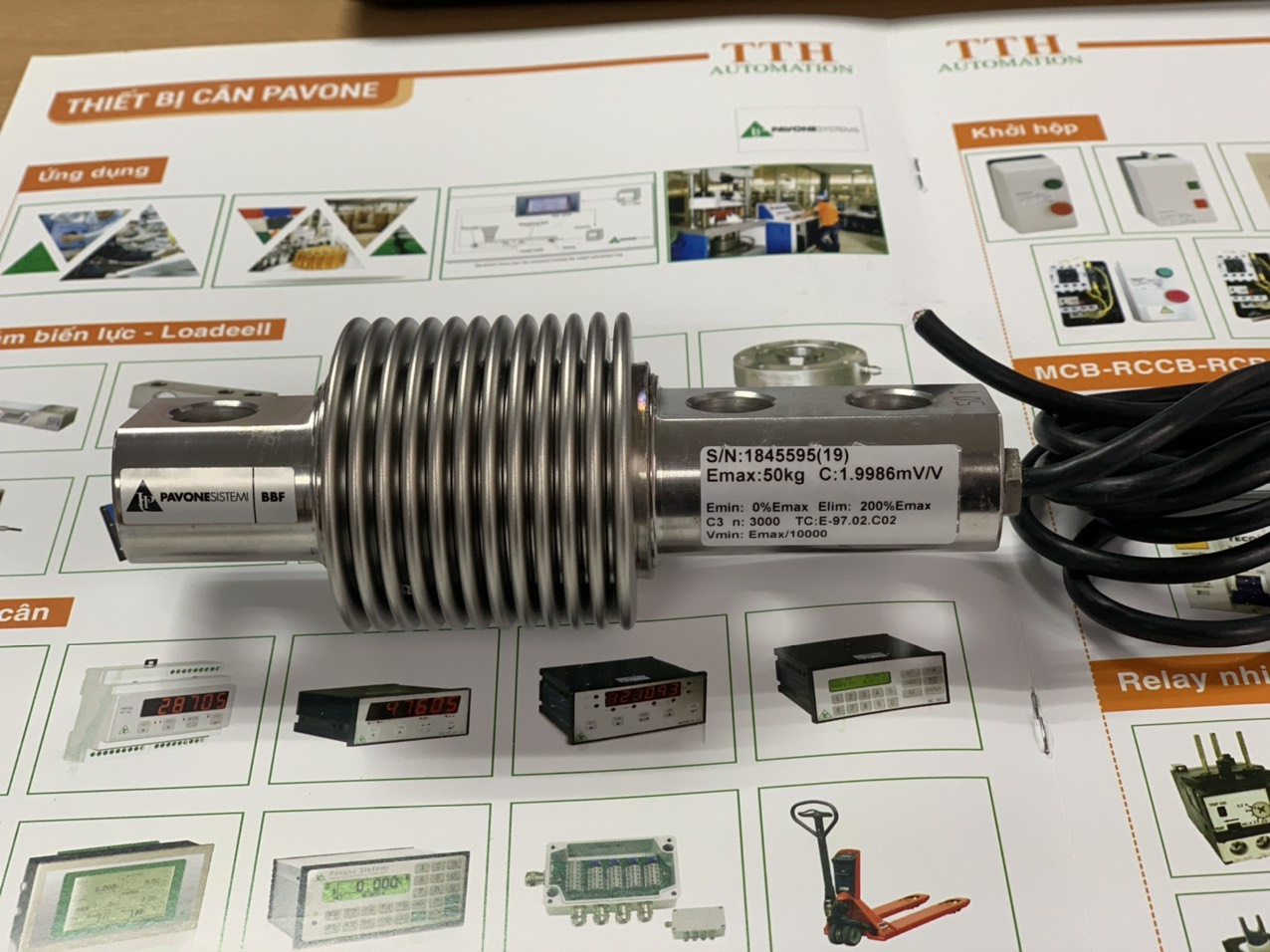 Loadcell chống rung BBF nhập khẩu chính hãng Pavone - Italy. Giá Đại Lý : 0915322692
