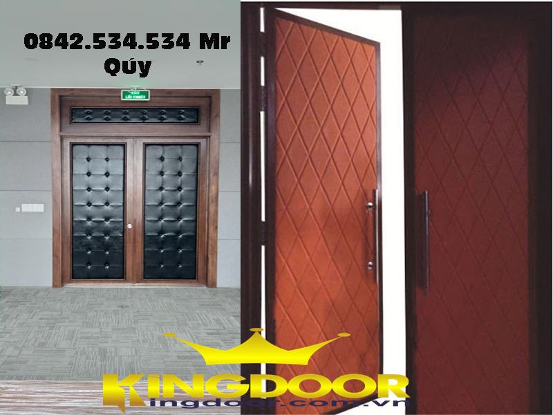 cửa gỗ cách âm chống cháy | cửa gỗ cách âm phòng karaoke | phòng ngủ