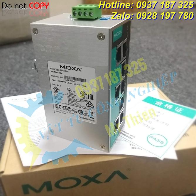 EDS-208A , Moxa Vietnam , Bộ chuyển mạch ethernet 8 cổng , Đại lý Moxa tại Việt Nam