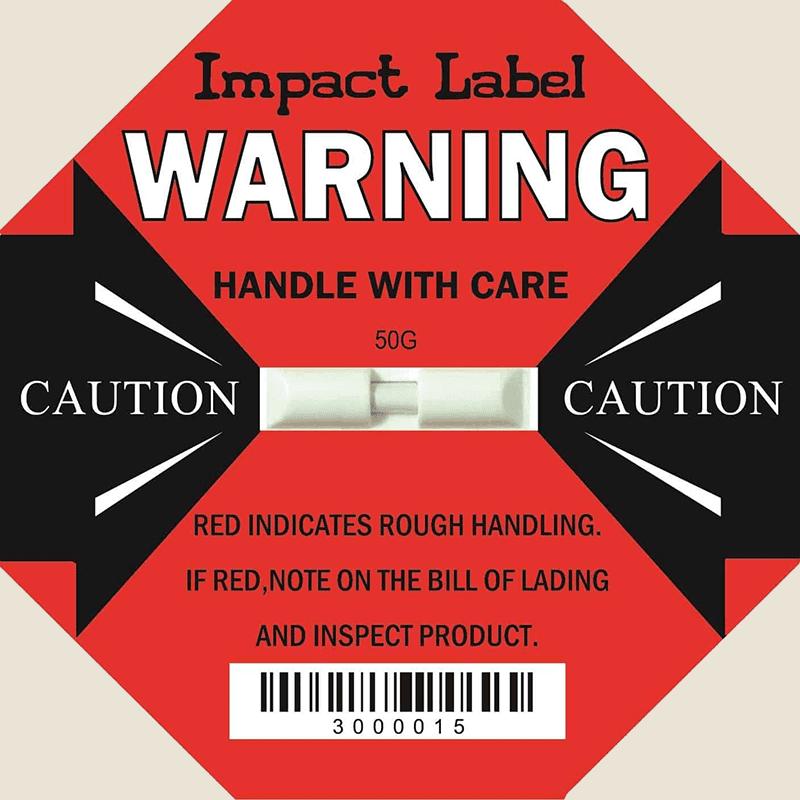 Nhãn phát hiện va đập Impact Label - Phát hiện Shock 25G - [ Sky Pak ]