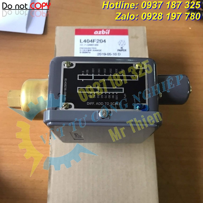 L404F204 , Azbil Vietnam , Công tắc áp suất , Đại lý phân phối Azbil chính hãng tại Việt Nam , Pressure switch