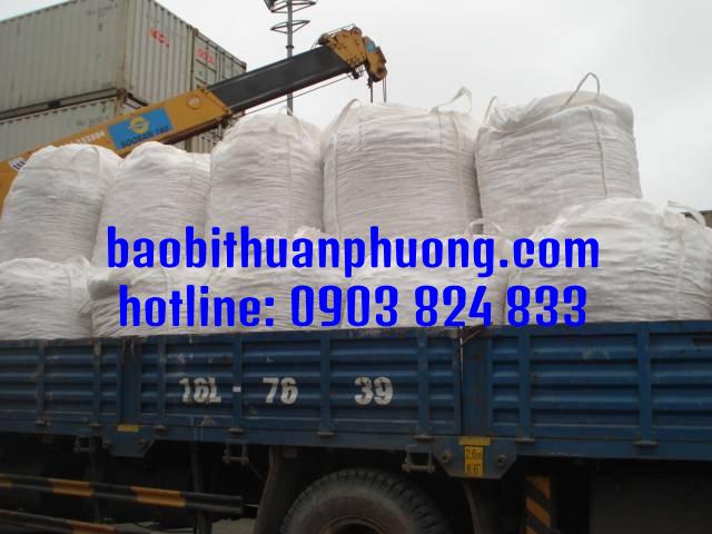 Bao jumbo 1 tấn chứa lúa gạo nông sản các loại đã qua sử dụng giá rẻ