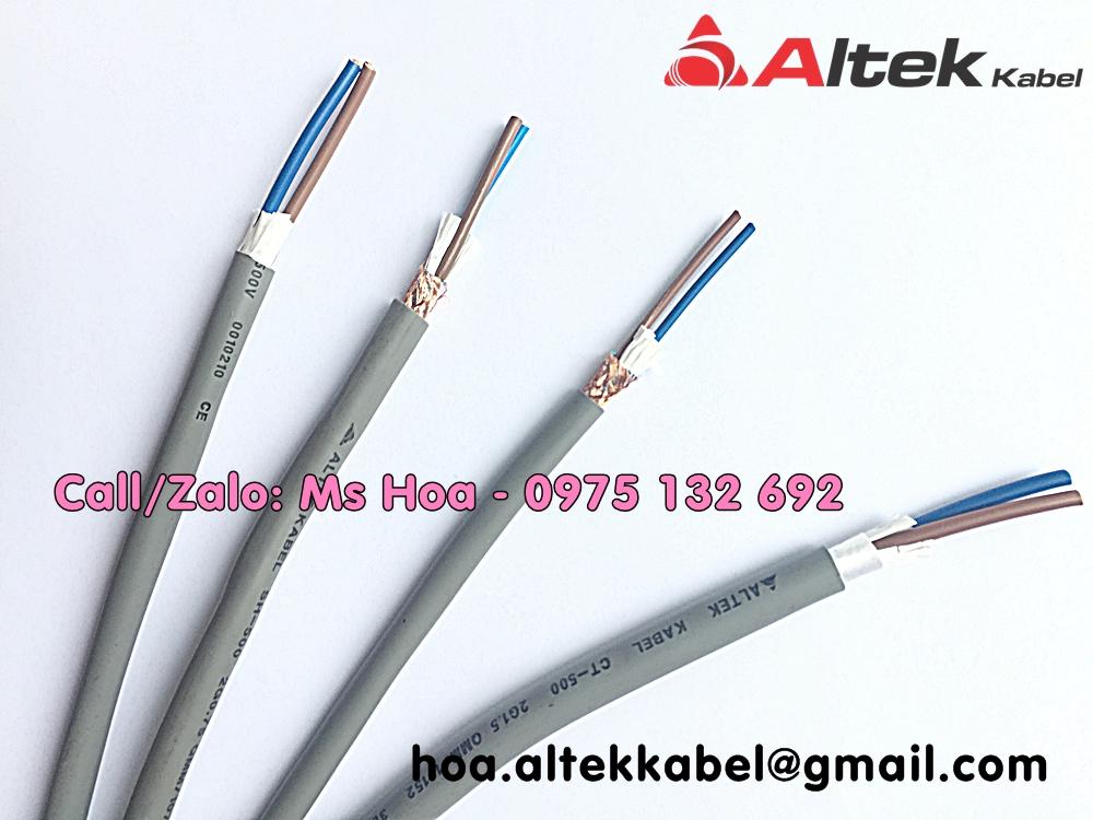 Cáp điều khiển 2x1.5 chống nhiễu hoặc không chống nhiễu Altek Kabel