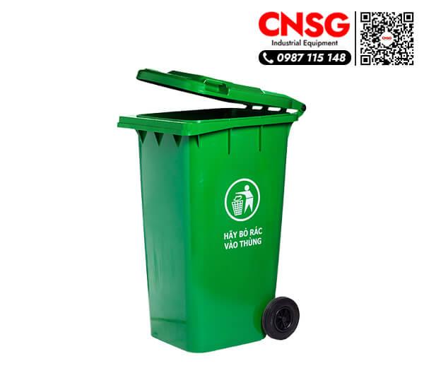 Thùng rác nhựa 240 lít loại lớn có nắp