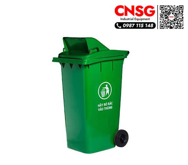 Thùng rác nhựa hdpe 120 lít màu xanh