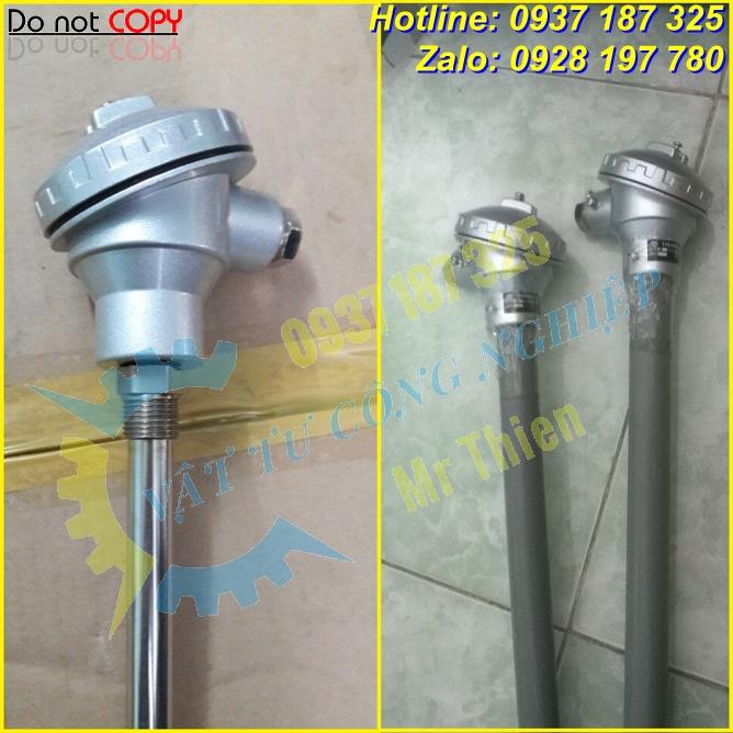 Can nhiệt PT100 , Thermomatrix , 100 độ C,dài 130mm,phi 6mm,ren G1/2,