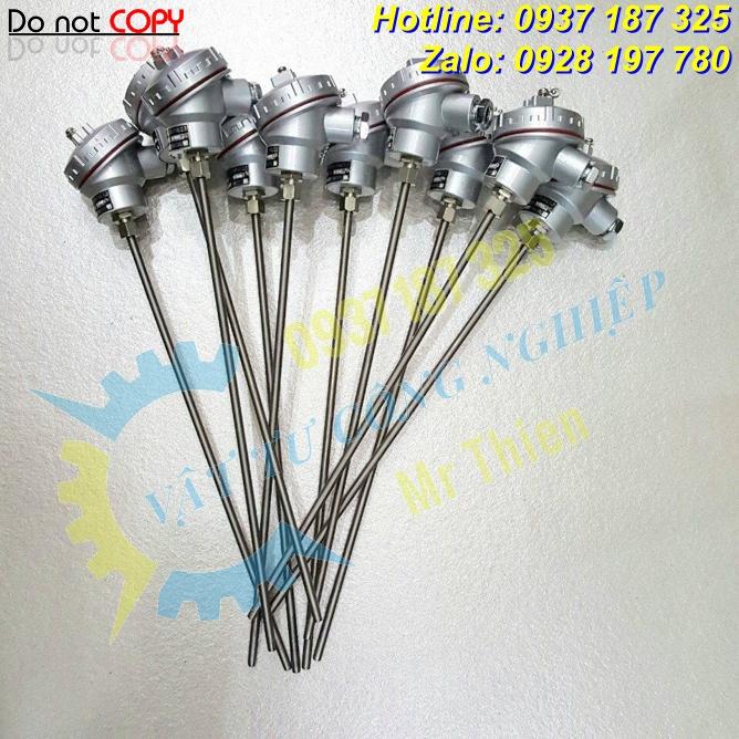 Đầu dò nhiệt PT100 , Thermomatrix , 200 độ C,dài 120mm,phi 10mm,6 dây,