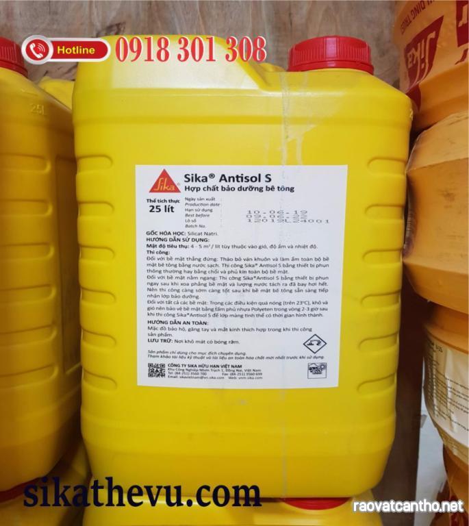 Sika Thế Vũ - Sika antisol S   hợp chất bảo dưỡng bê tông