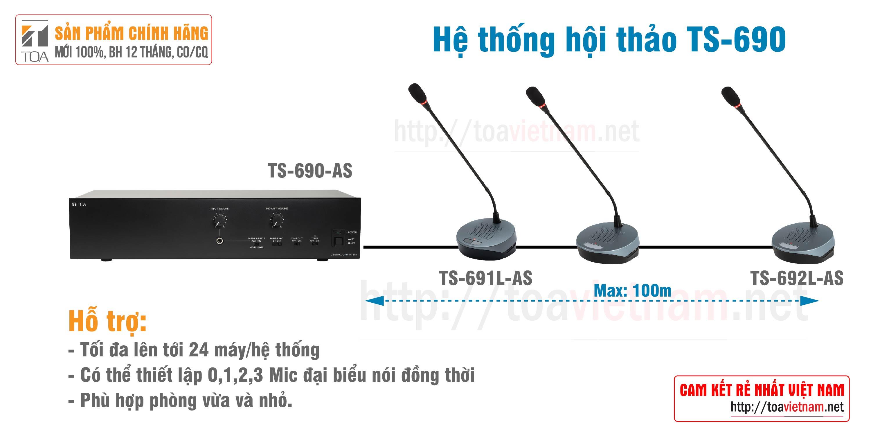 Hệ thống hội thảo phòng họp vừa và nhỏ: TOA TS-690