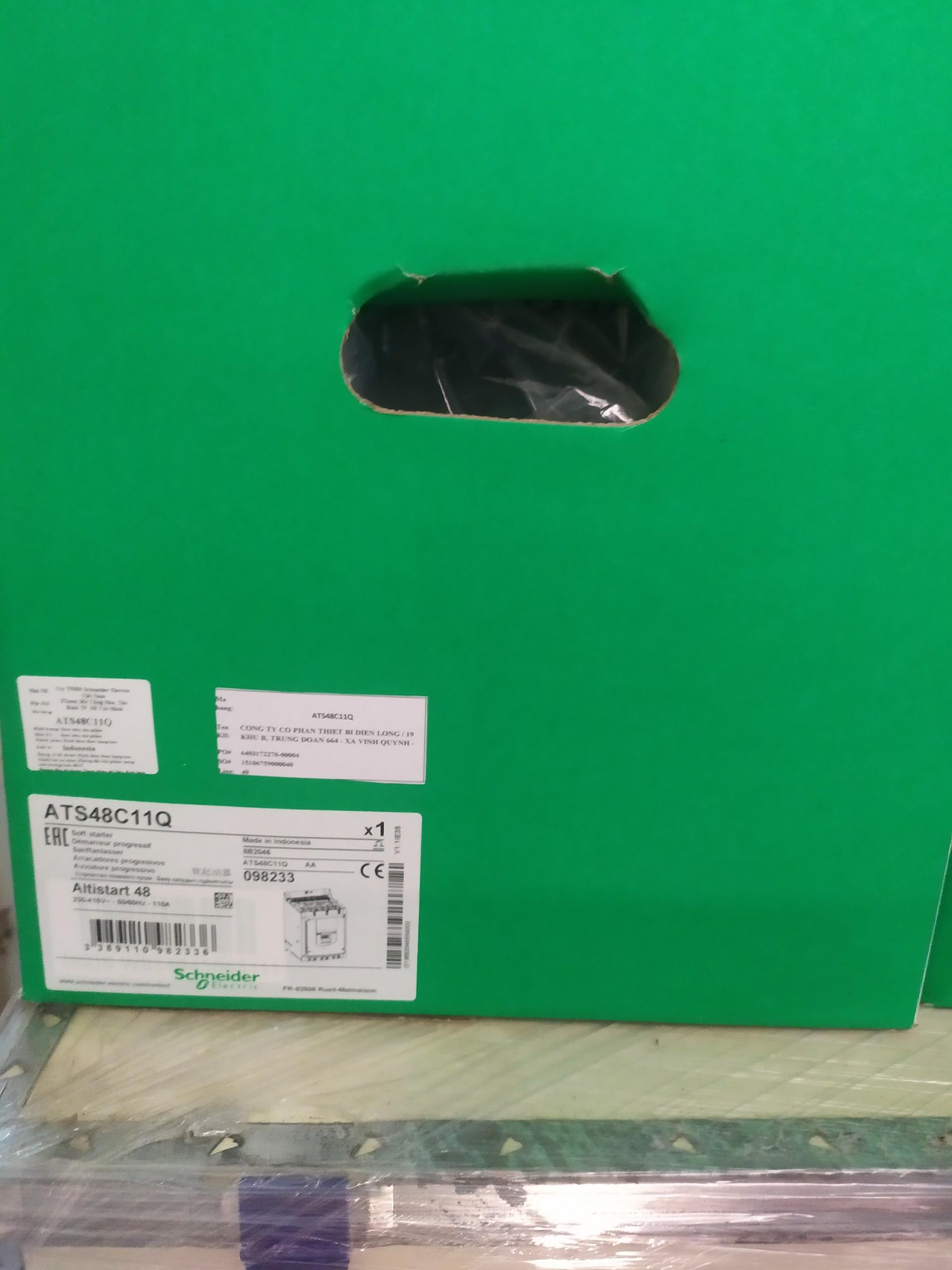 bộ khởi động mềm ATS48C11Q, 100 A, 230..415 V, 22..90 KW Schneider