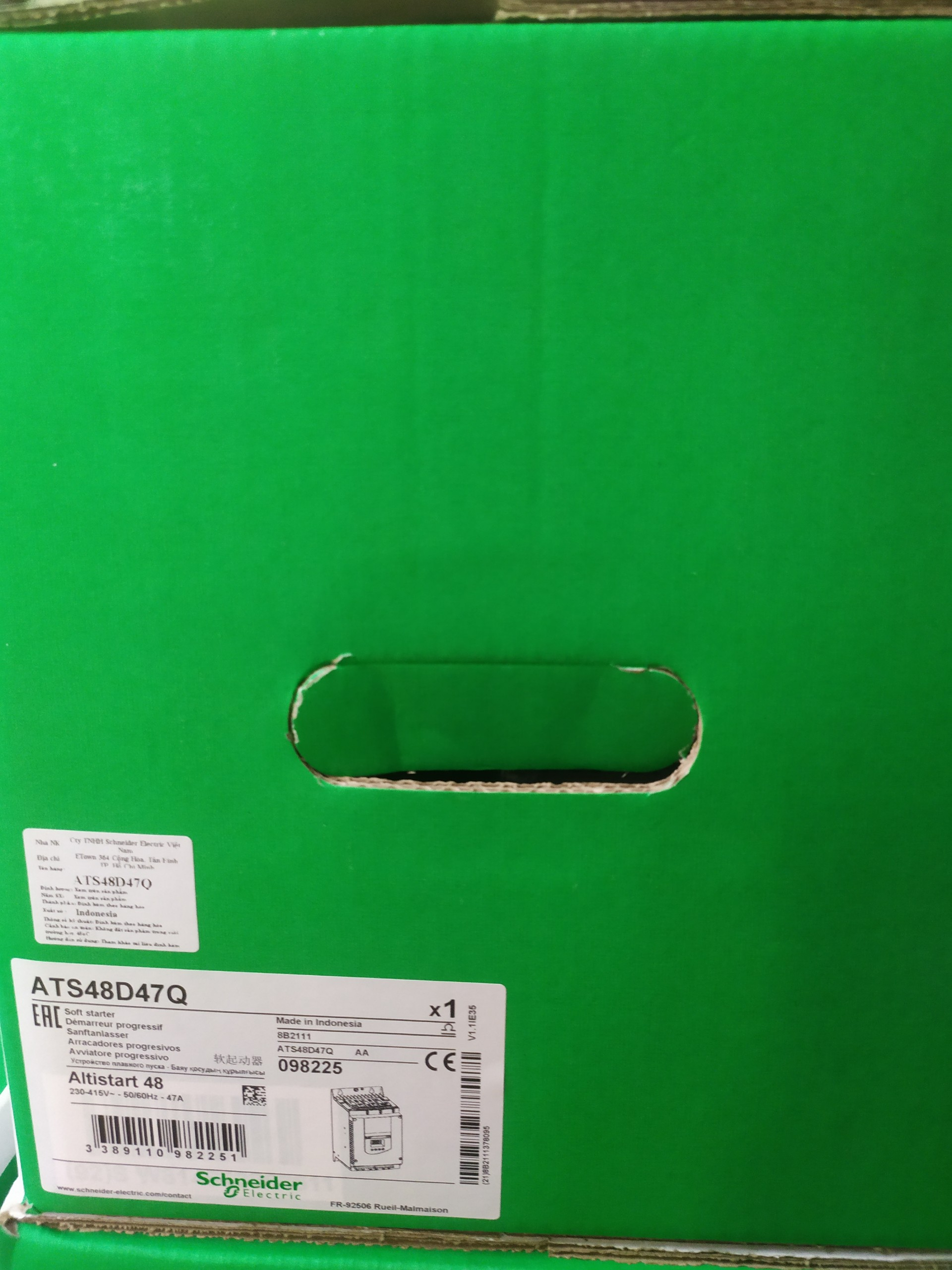bộ khởi động mềm ATS48D47Q, 42 A, 230..415 V, 9..45 KW Schneider