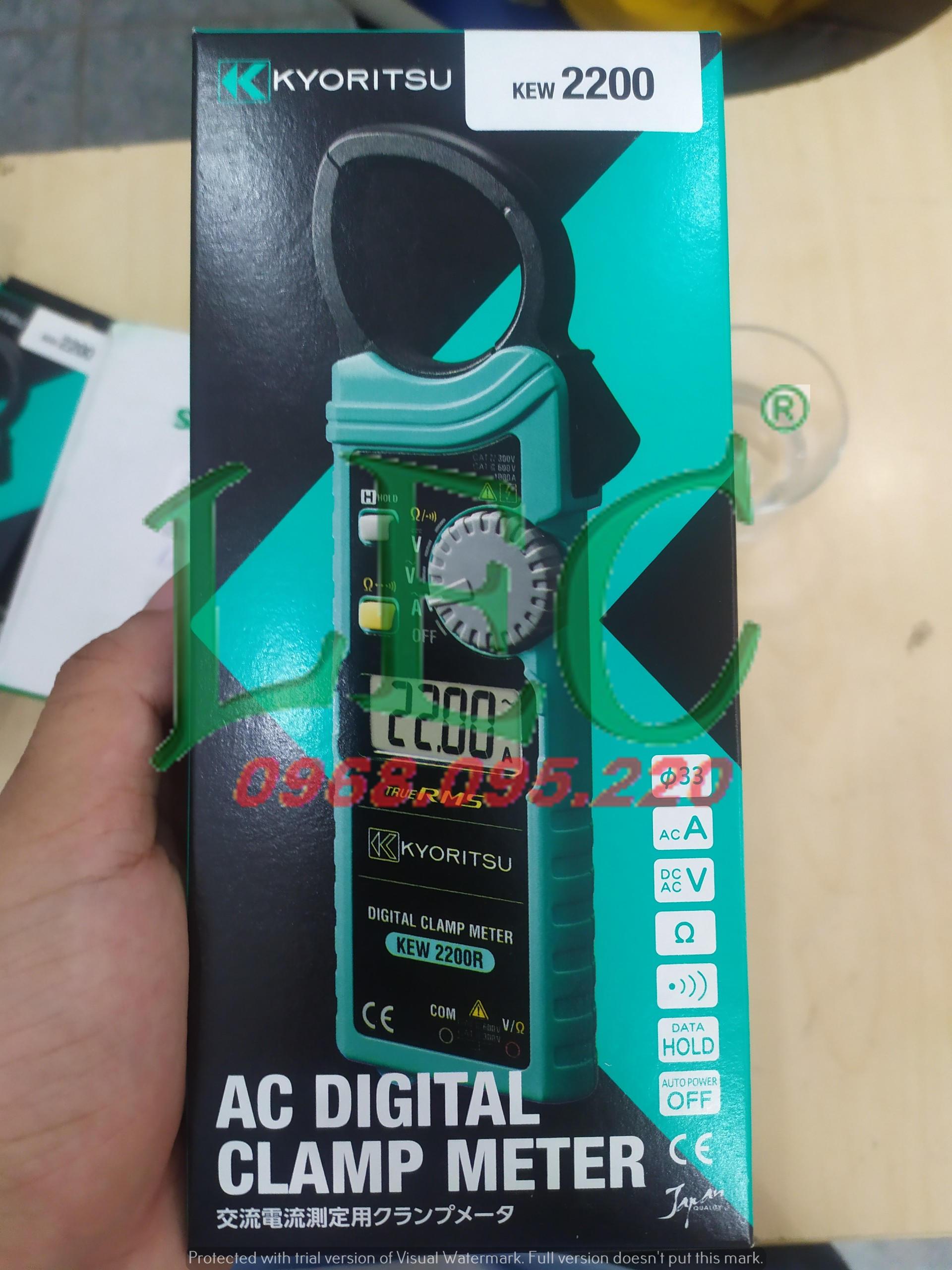 Ampe kìm đo dòng 1000A/AC Kyoritsu 2200