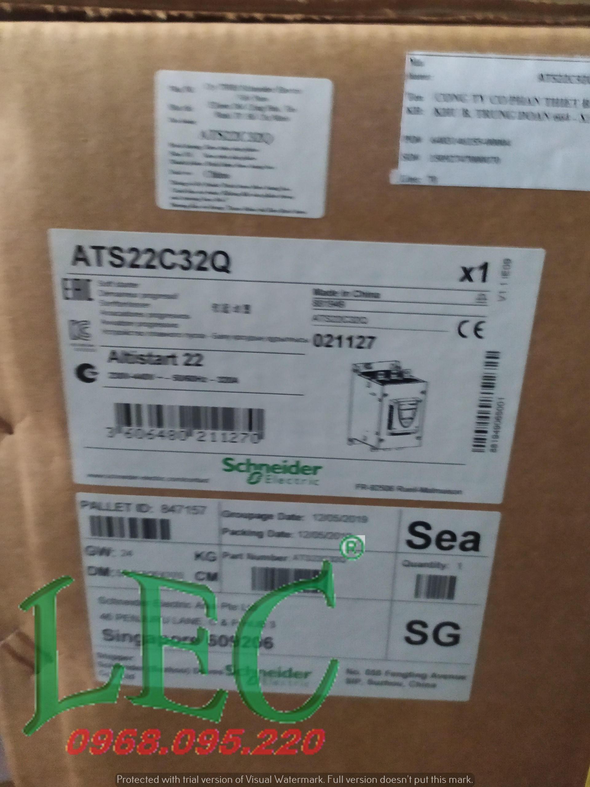 Khởi động mềm 320A 400VAC 3P - ATS22C32Q schneider
