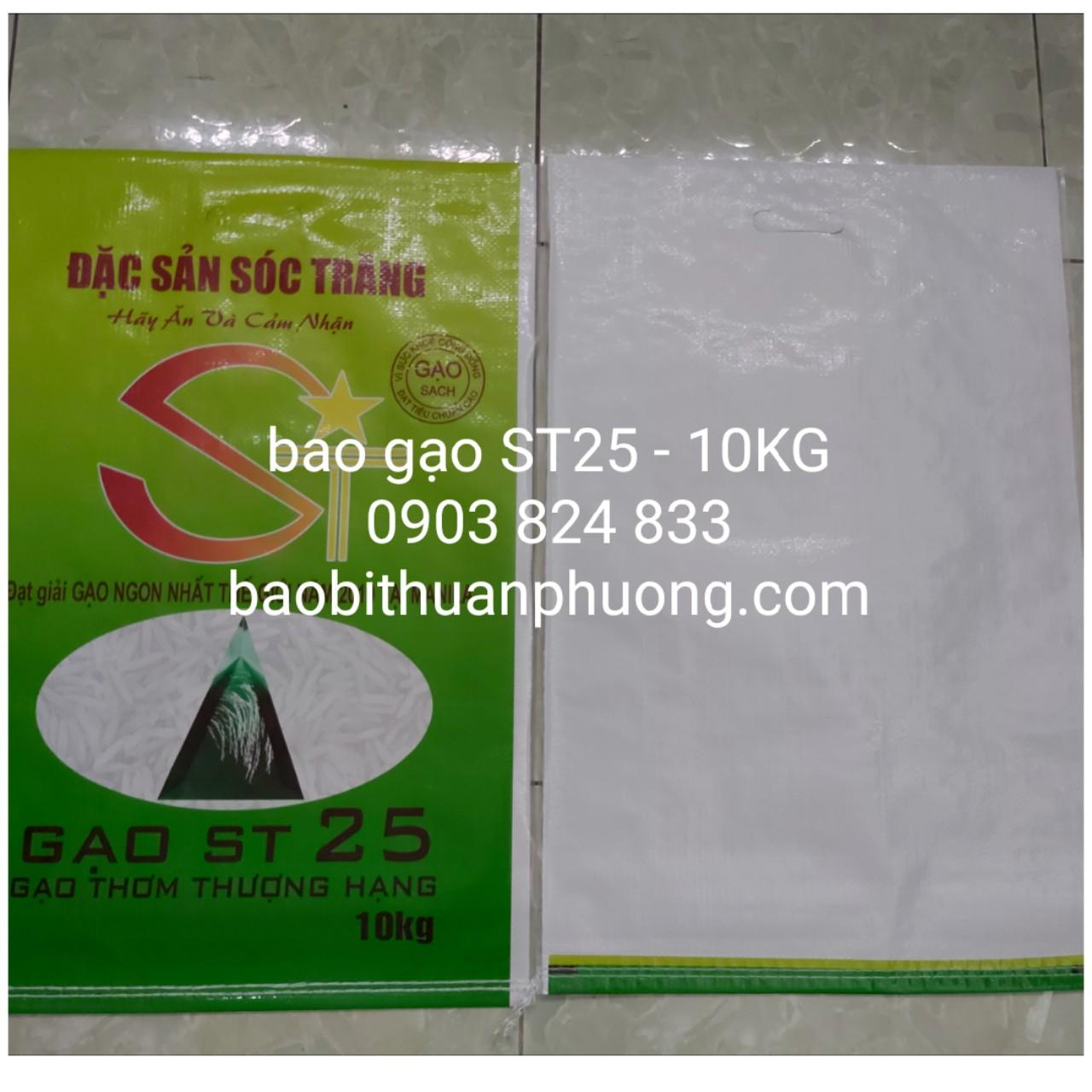bao bì gạo ST25 loại 5kg và 10kg