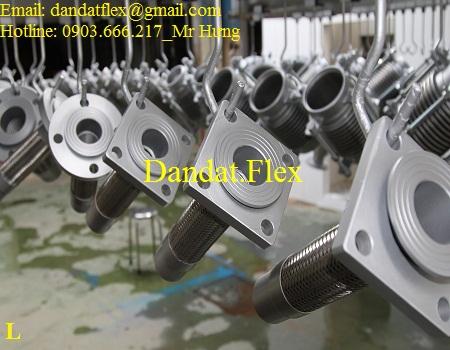 Bảng giá Khớp nối mềm inox nối bích, ống nối mềm inox 304, ống mềm inox 304