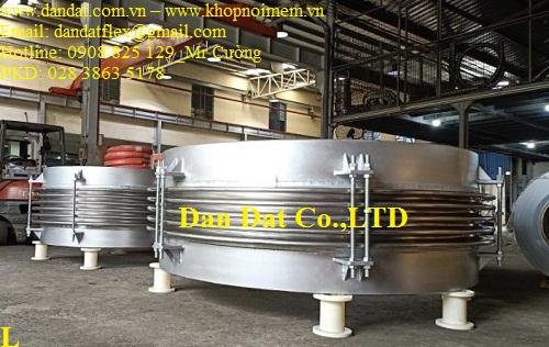 Bù trừ pasty (ES-100) Ống 1ly x 2 lớp 304, đầu chờ dày 10ly, 12 pasty M24, lót 6ly sắt DN2220 x 820mm - bù giãn nở nhiệt