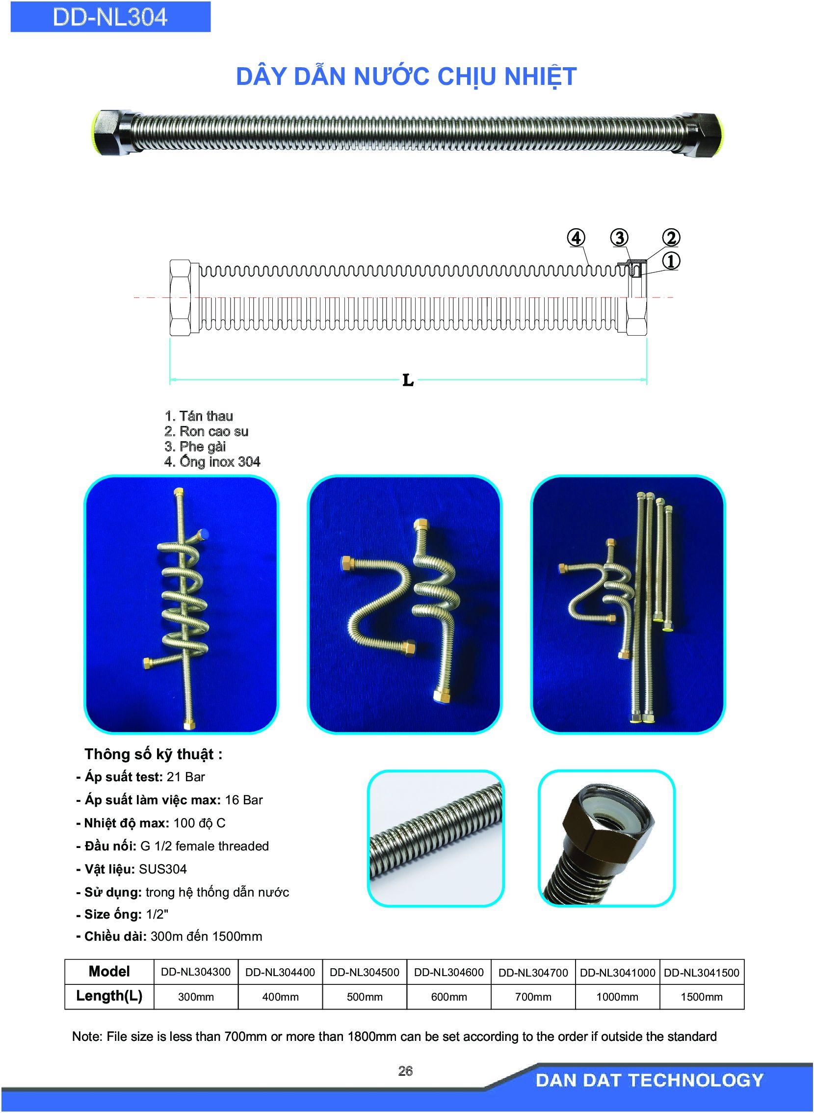 Catalogue dây dẫn nước - dây cấp nước
