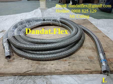 Dây mềm khí nén vòi dầu, dây mềm inox 304
