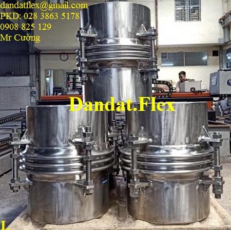 Khớp co giãn - Bù trừ pasty (ES-100) Ống bellows 1.5ly x 2 lớp inox 304 DN457 x 0.6m