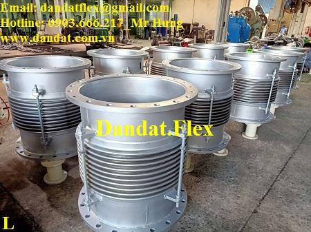 Khớp co giãn DN600x800 chuyên sử dụng trong các nhà máy thép