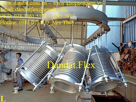 Khớp co giãn nhiệt inox 316 - Model ES-100 mặt bích Ansi150 sắt, chịu áp max 600 độ C