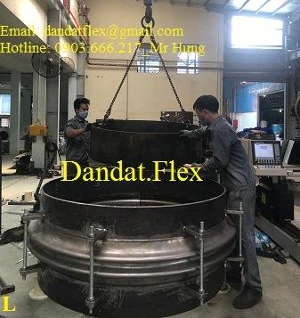 Khớp giãn nở máy cấp than, ống giãn nở nhiệt, ống co giãn inox, khớp nối co giãn nhiệt