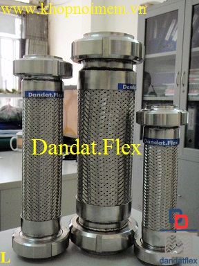Khớp nối mềm đầu rắc co inox 304, ống mềm inox