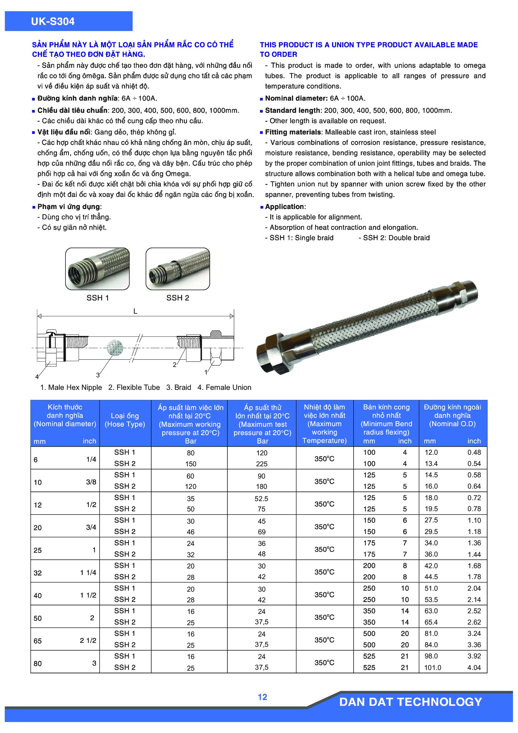 Khớp nối mềm model UK-S304