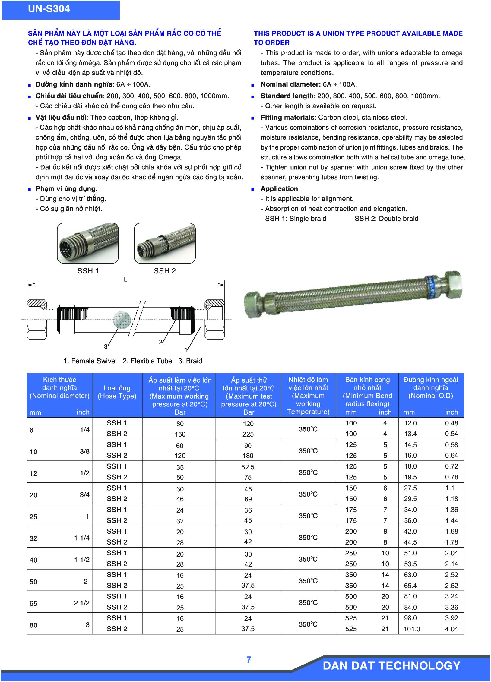 Khớp nối mềm model UN-S304