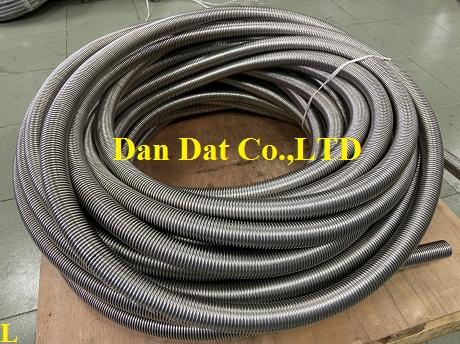 Ống mềm inox chịu nhiệt không lưới, ống inox 304 không lưới