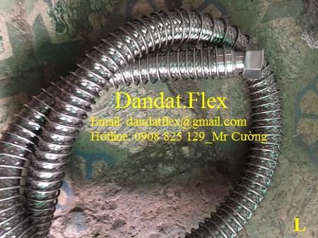 Ống mềm inox lắp ren + lò xo 201/ ong mem inox lap ren