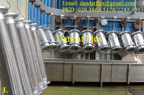 Ống nối mềm chịu nhiệt, ống mềm inox, ống giảm chấn inox, khớp nối mềm lắp bích