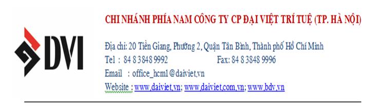Chi Nhánh Phía Nam Công Ty CP Đại Việt Trí Tuệ