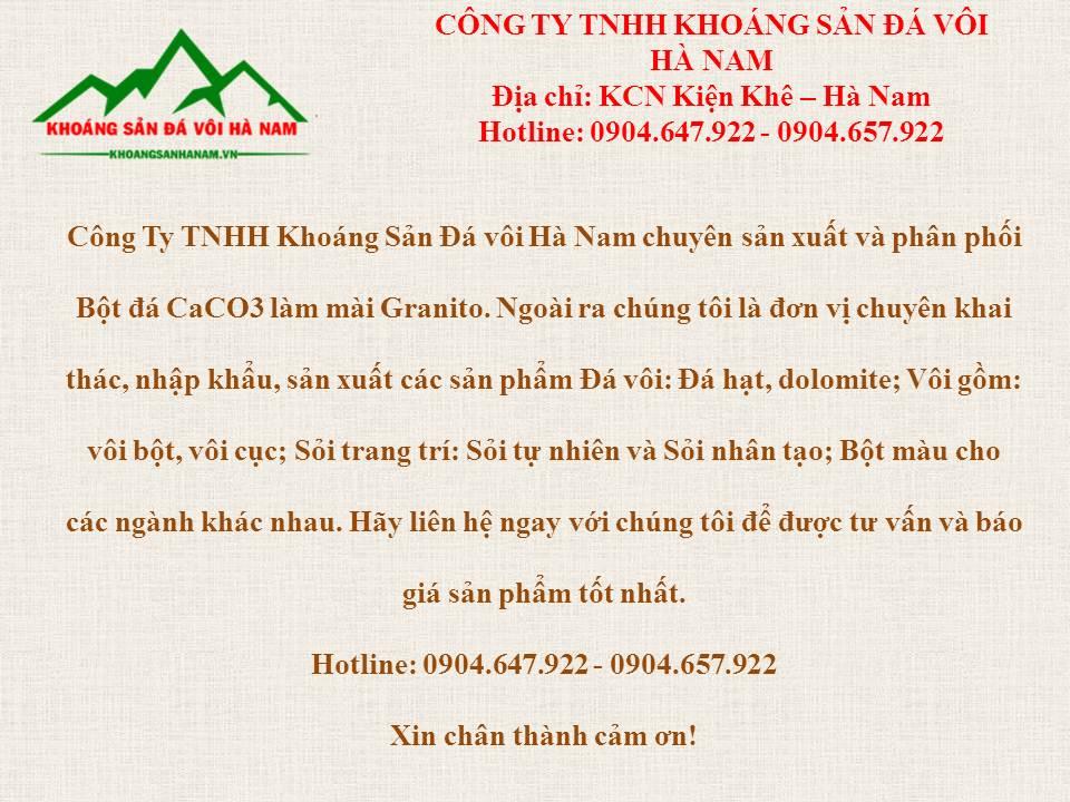 Công ty TNHH Khoáng Sản Đá Vôi Hà Nam